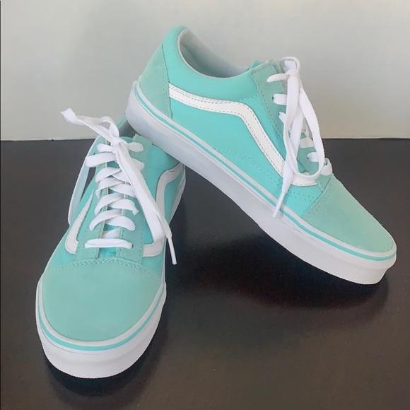 Vans Turquoise Mint Blue Skater Shoes